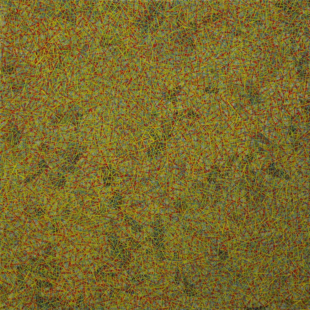 Struktur 26, Ölfarbe, Pappmaché, Keilrahmen, 90 cm x 90 cm x 9 cm, 2020