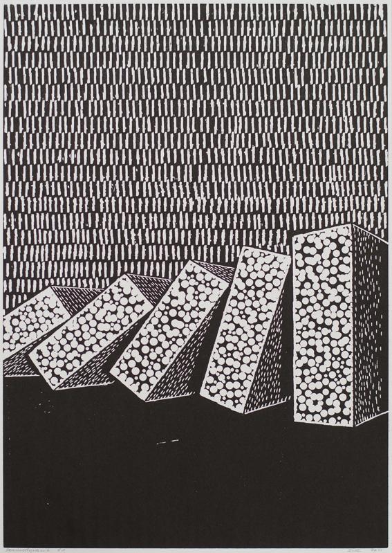 Individueller Horizont, Holzschnitt, 2011
